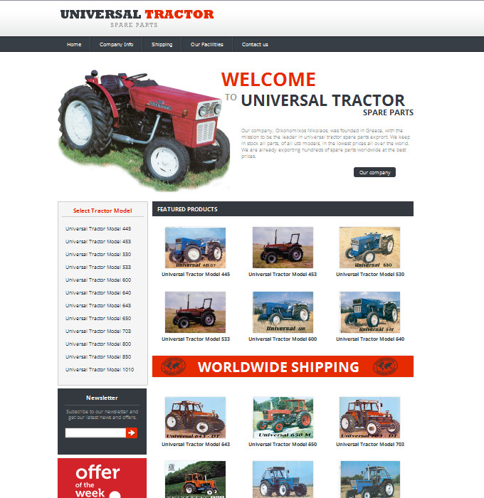 Universal Tractor Spare Parts